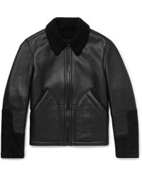 MR P. - Shearling-lined Leather And Suede Jacket - Lyst