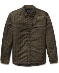 Prada - Padded Checked Shell Shirt Jacket - Lyst