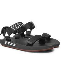 Valentino - Garavani Logo-print Webbing Sandals - Lyst