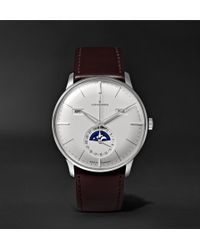 Junghans - Meister Kalender 40mm Stainless Steel And Leather Watch - Lyst