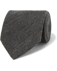 Dunhill - Herringbone Cashmere And Mulberry Silk-blend Tie - Lyst