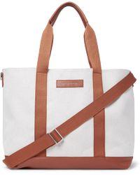 Want Les Essentiels De La Vie | Marti Leather-trimmed Canvas Tote Bag | Lyst