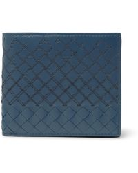 Bottega Veneta - Embroidered Intrecciato Leather Billfold Wallet - Lyst