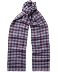 Loro Piana - Checked Cashmere And Silk-blend Scarf - Lyst