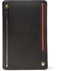 Smythson - Panama Cross-grain Leather Currency Case - Lyst