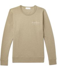 Maison Labiche - Embroidered Fleece-back Cotton-jersey Sweatshirt - Lyst