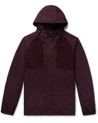 Aspesi - Suede-trimmed Garment-dyed Shell Hooded Jacket - Lyst