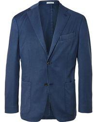 Boglioli - Blue Slim-fit Unstructured Wool-twill Suit Jacket - Lyst