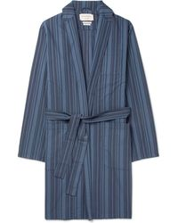 Oliver Spencer - Farrow Striped Organic Cotton Robe - Lyst