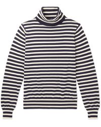 CONNOLLY - Riviera Striped Cashmere Rollneck Jumper - Lyst