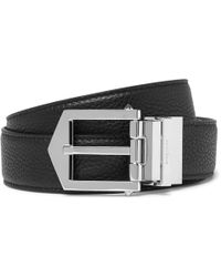 Givenchy - Reversible Pebble-grain Leather Belt - Lyst