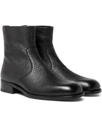 Tom Ford - Textured-leather Boots - Lyst