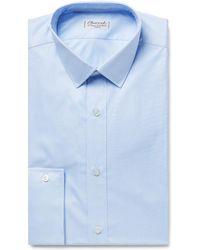 Charvet - Light-blue Puppytooth Cotton Shirt - Lyst