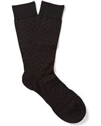 Pantherella - Pin-dot Cotton-blend Lisle Socks - Lyst