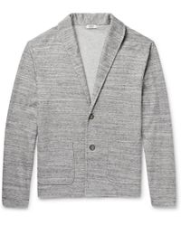 Eidos - Shawl-collar Mélange Cotton-blend Cardigan - Lyst