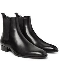 Saint Laurent - Polished-leather Chelsea Boots - Lyst