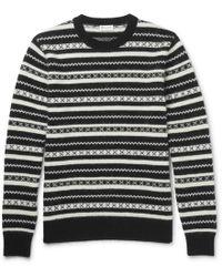 Saint Laurent - Fair Isle Jacquard-knit Mohair-blend Jumper - Lyst
