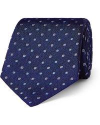 Turnbull & Asser - 8cm Embroidered Silk Tie - Lyst