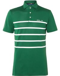 RLX Ralph Lauren - Striped Stretch Tech-piqué Polo Shirt - Lyst