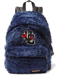Undercover - Eastpak Appliquéd Faux Fur And Canvas Backpack - Lyst