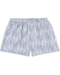 Ermenegildo Zegna - Striped Cotton Boxer Shorts - Lyst