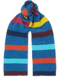 Paul Smith - Striped Donegal Wool Scarf - Lyst