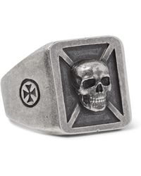 Vetements - Burnished Silver-tone Ring - Lyst