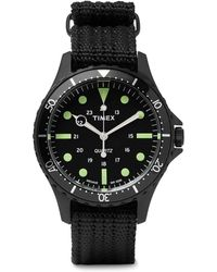 Timex - Navi Harbor Stainless Steel And Nylon-webbing Watch - Lyst