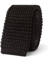 Lanvin - 5.5cm Knitted Silk Tie - Lyst