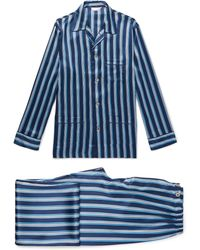 Derek Rose - Brindisi Striped Silk Pyjama Set - Lyst