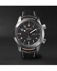 Bremont - Mbii/or Automatic 45mm Stainless Steel And Leather Watch - Lyst