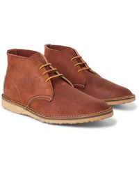 Red Wing - Weekender Brushed-leather Chukka Boots - Lyst