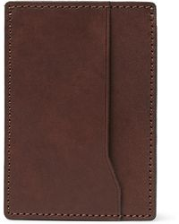J.Crew - Leather Cardholder - Lyst