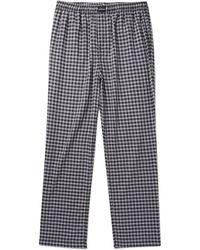Balenciaga - Wide-leg Checked Cotton Drawstring Trousers - Lyst