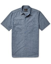 Beams Plus - Slim-fit Cotton-chambray Shirt - Lyst