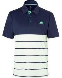 adidas Originals - 365 Colour-block Jersey Golf Polo Shirt - Lyst