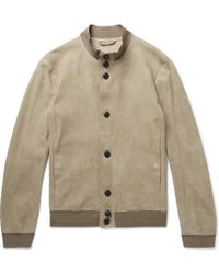 Giorgio Armani - Unlined Suede Jacket - Lyst
