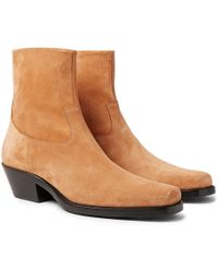 CALVIN KLEIN 205W39NYC - Western Tod Suede Boots - Lyst
