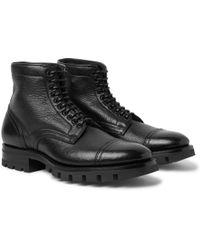 Santoni - Full-grain Leather Boots - Lyst