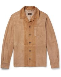 Tod's - Panelled Suede Shirt Jacket - Lyst