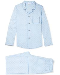 Derek Rose | Nelson Cotton-jacquard Pyjama Set | Lyst