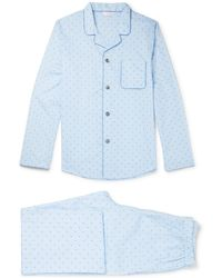 Derek Rose - Nelson Cotton-jacquard Pyjama Set - Lyst