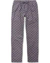 Zimmerli - Metropolitan Tropicals Printed Cotton-poplin Pyjama Trousers - Lyst