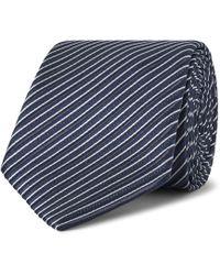 Ermenegildo Zegna - 7cm Striped Silk Tie - Lyst