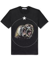Givenchy | Cuban-fit Monkey Brothers Printed Cotton-jersey T-shirt | Lyst