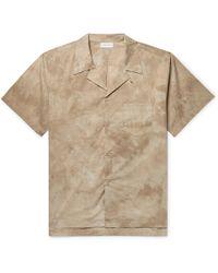 John Elliott - Camp-collar Tie-dyed Cotton-poplin Shirt - Lyst