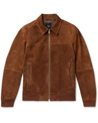 Theory Noland Slim-fit Suede Jacket