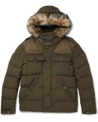 Ralph Lauren Purple Label - Litchfield Faux Fur-trimmed Canvas Hooded Down Parka - Lyst