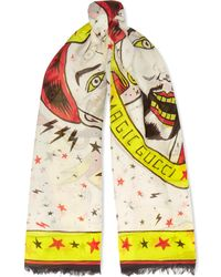 Gucci | Printed Cotton Scarf | Lyst