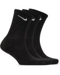 Nike - - Three-pack Cushioned Cotton-blend Socks - Black - Lyst